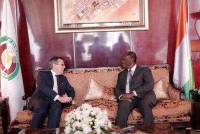 Le Chef de l'Etat a échangé avec les Ambassadeurs des Pays- Bas et de Belgique.